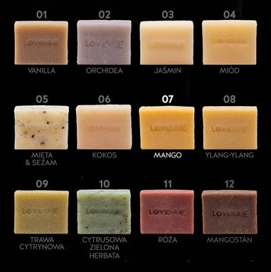 "Natural Soap - Vegan THAILINE ""Mango"" 20g"