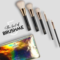 The best of BRUSHME. Set of 5 brushes + vanity case