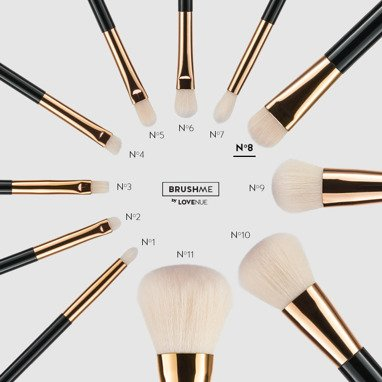 BRUSHME by LOVENUE No 8. CONTOUR BRUSH FOR WET PRODUCTS.