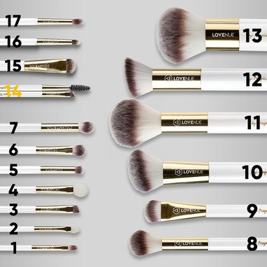 Eyebrow comb and brush No 14