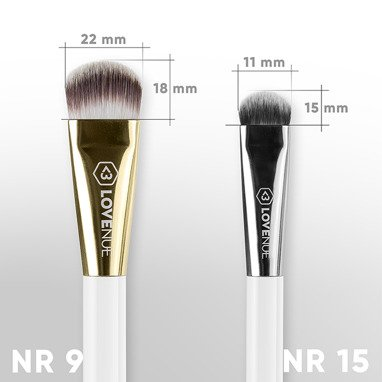 Face contour brush No 9