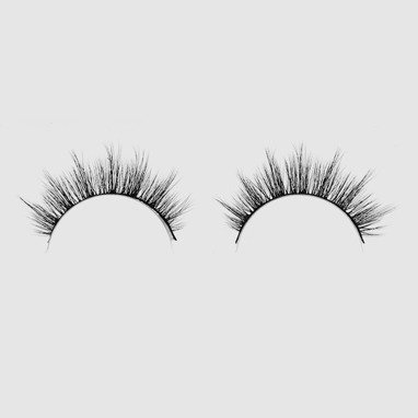 LOVENUE – Curled, silk faux lashes on a band – No 5 Angel