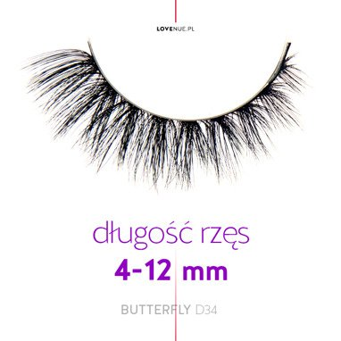 Silk faux lashes on a band – No.8 Butterfly