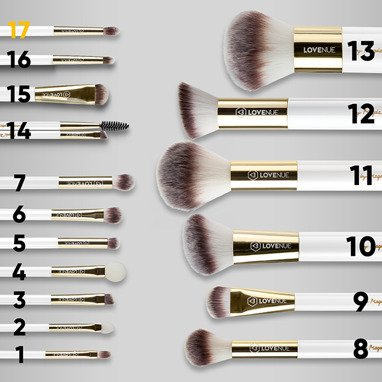 Contour and blending eye brush No 17