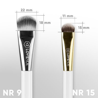 Contour face brush No 15